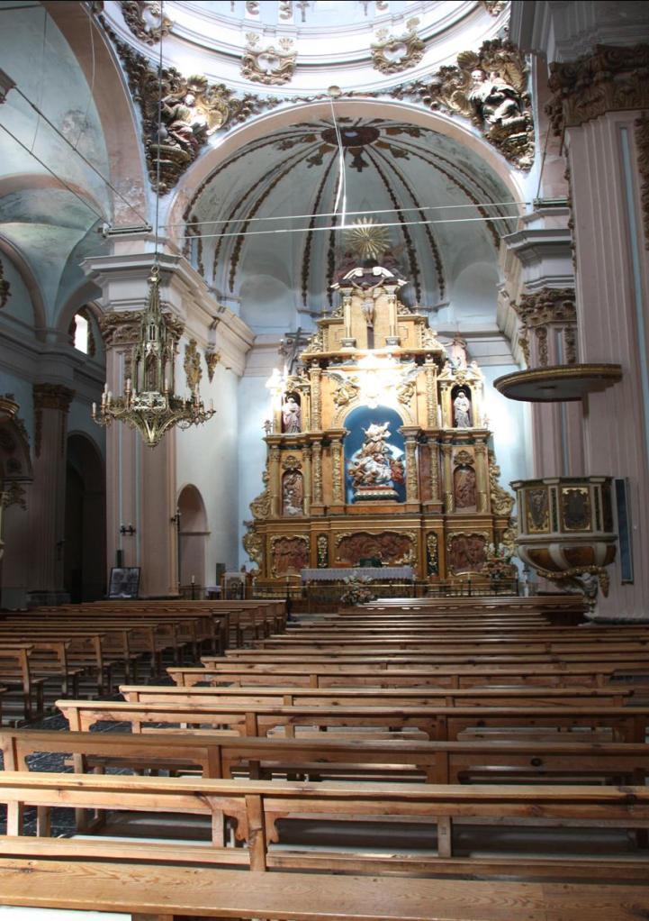cantavieja 39 iglesia vista altar mayor